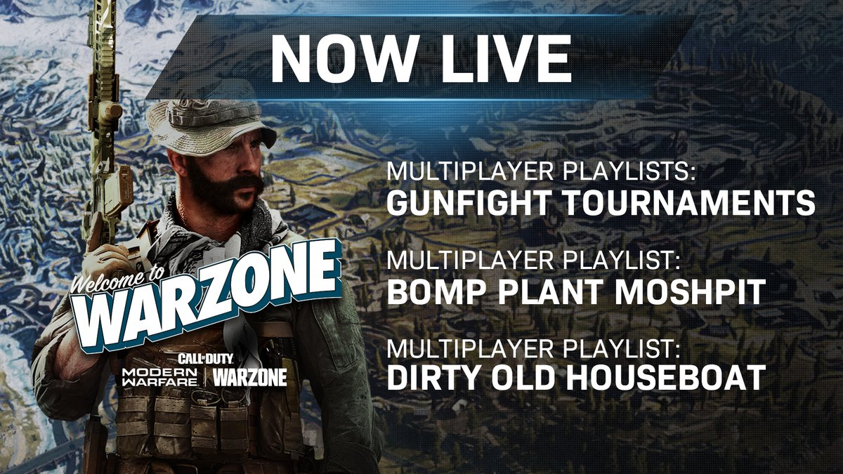 🚨Incoming Intel🚨 Playlist updates are here for #ModernWarfare, including the return of Gunfight Tournaments.