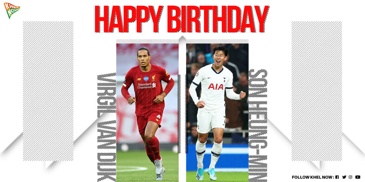 Join us in wishing @LFC's talismanic defender @VirgilvDijk and @SpursOfficial ace @hm_sin7 a very happy birthday! 🔥🔥🔥  #PremierLeague #Liverpool #YNWA #TottenhamHotspur https://t.co/D4UwstZ2lX