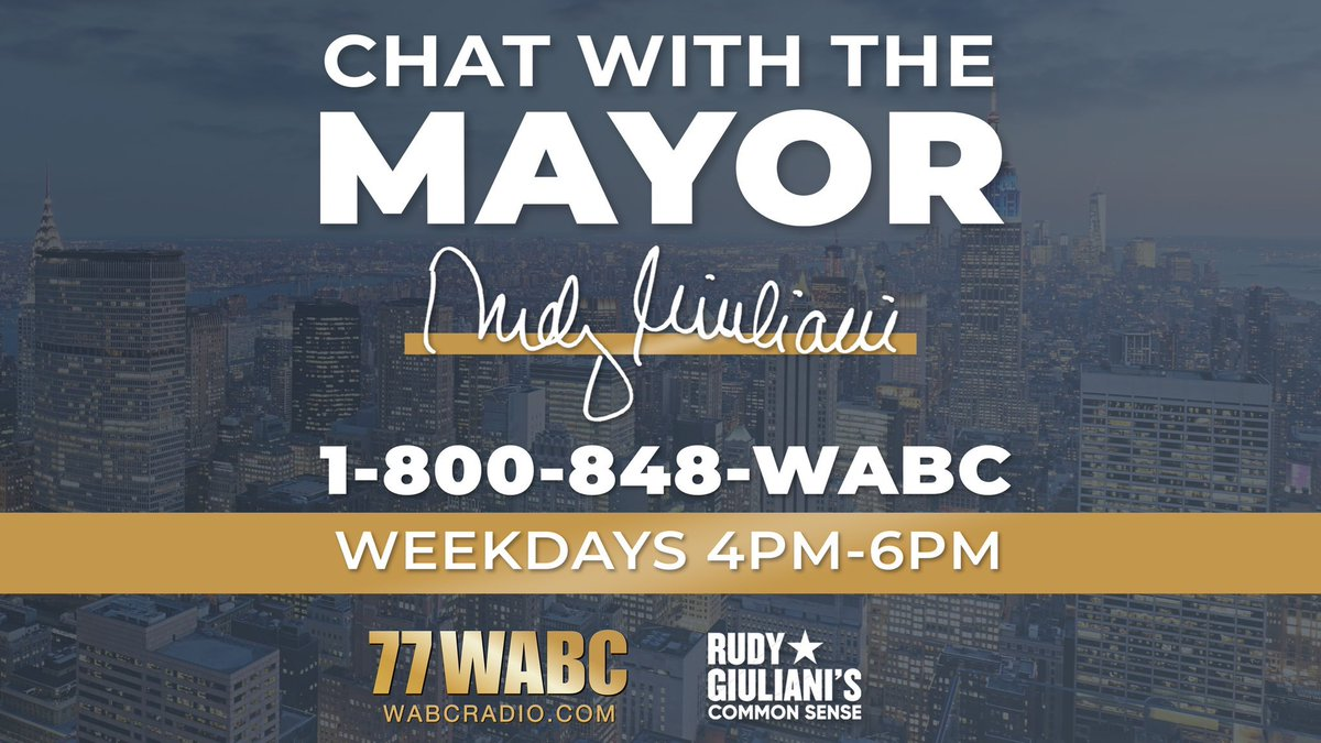 We have a big show today from 4-6 PM ET! I will be taking calls on the issues we discuss. Listen live at WABCradio.com