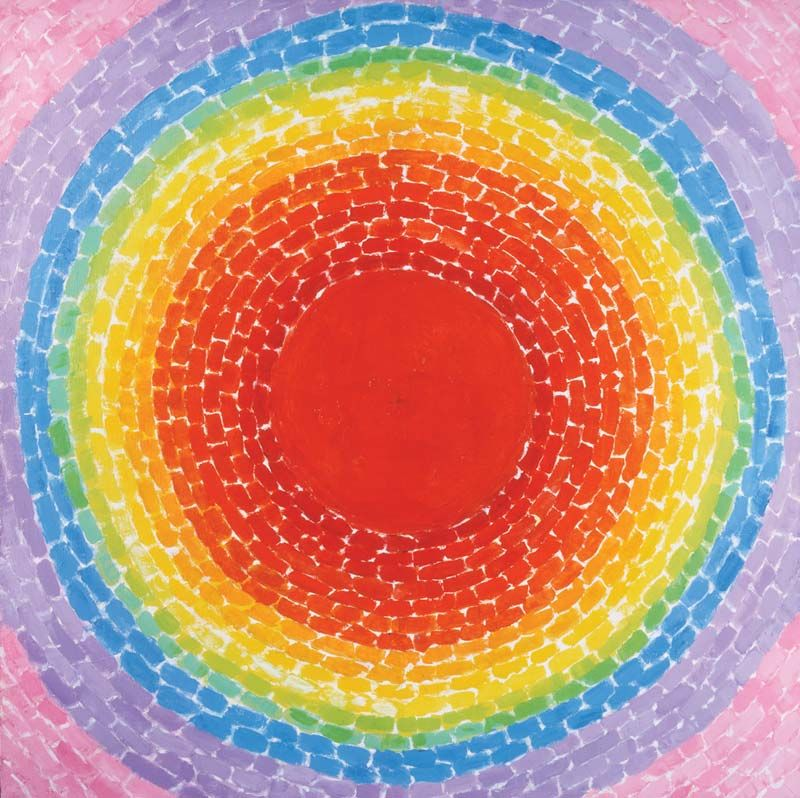 A Fantastic Sunset, 1970 by Alma Thomas, first African-American female painter to have a solo exhibition, at the Whitney museum of American Art #womensart
