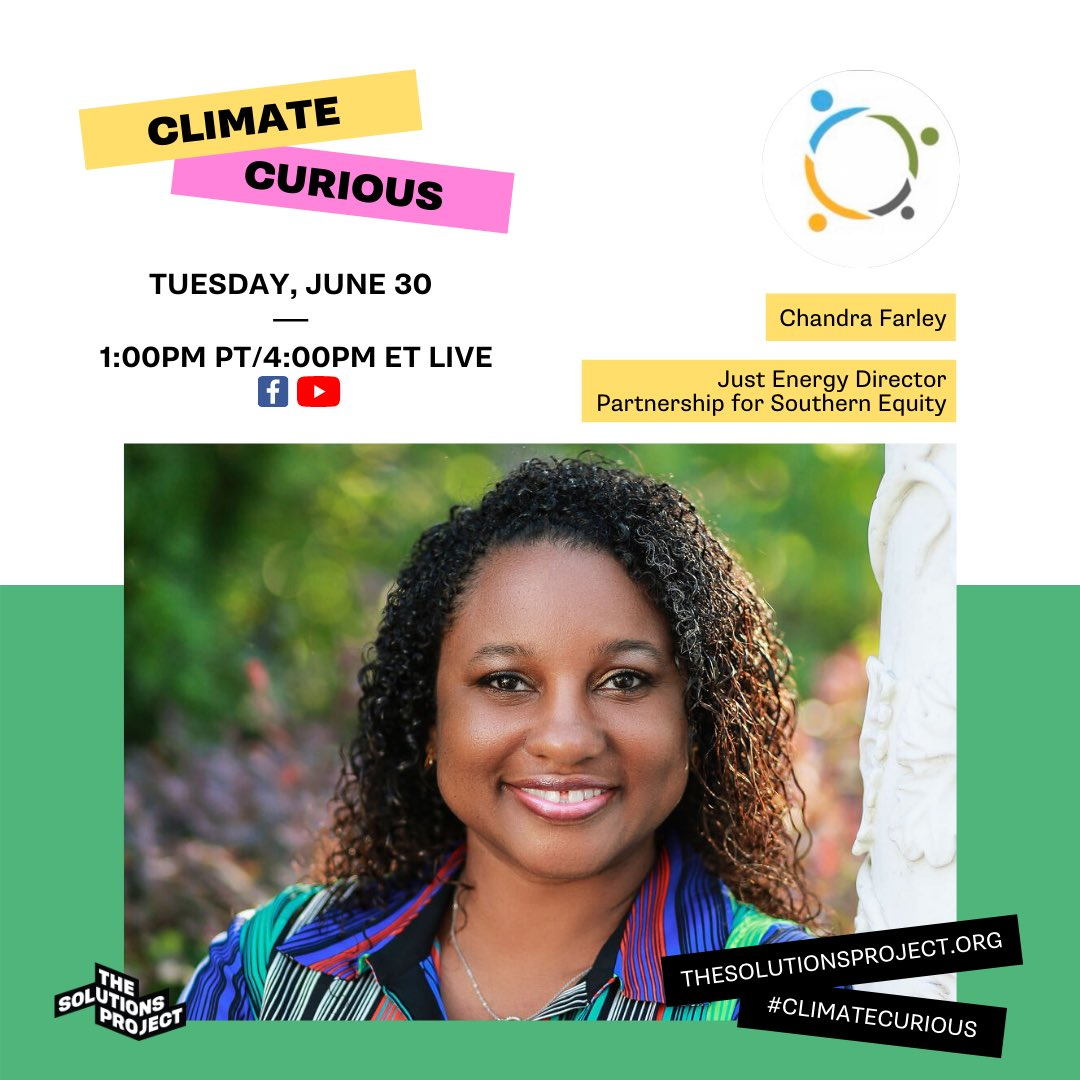 """Join us TODAY @ 1pm PT / 4pm ET for an #encore presentation of our new web series #ClimateCurious. We'll be back #NextWeek with a #BrandNew episode discussing """"Indigenous Power"""". facebook.com/100isNow/"""
