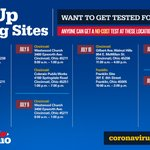 Image for the Tweet beginning: This week's pop-up testing sites