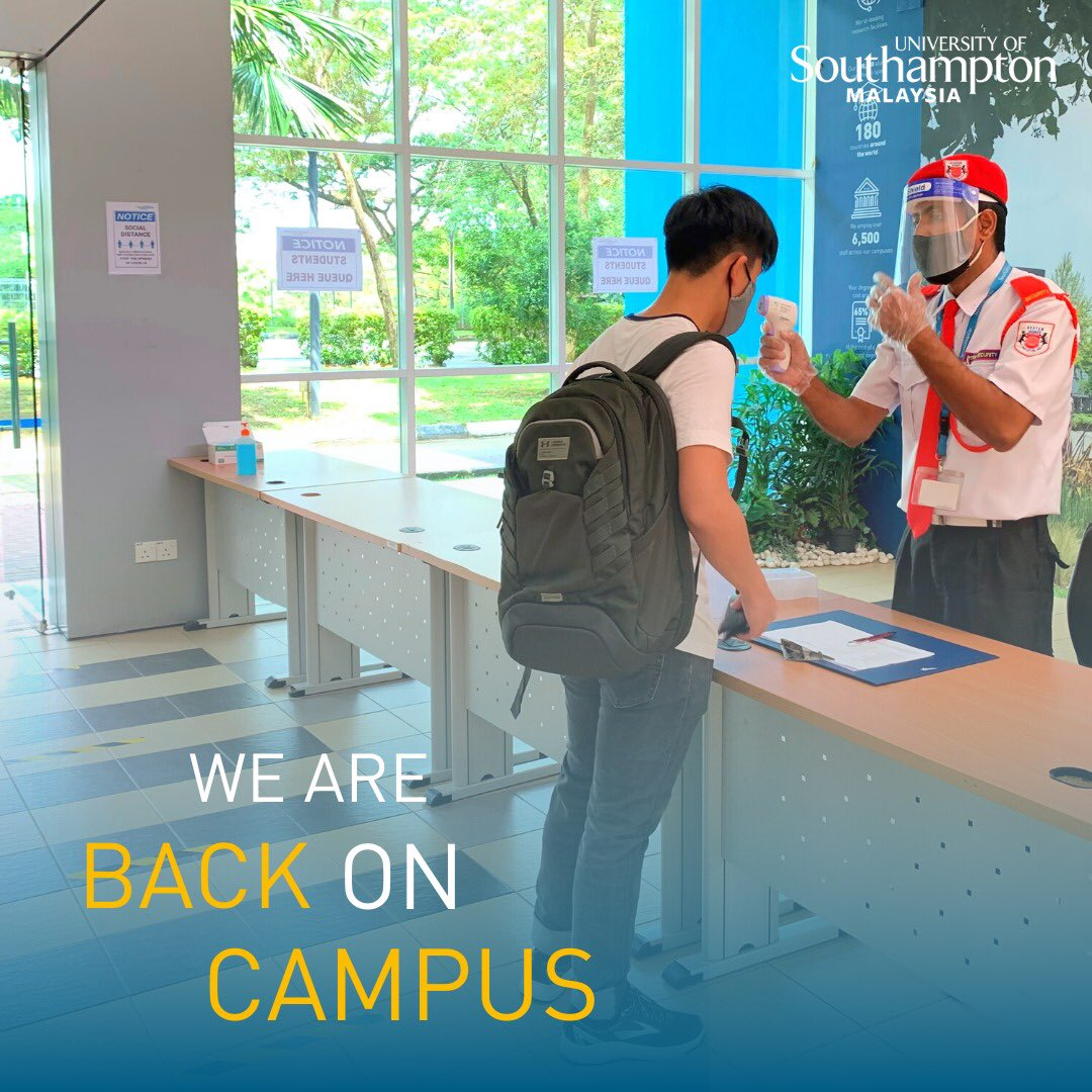 Welcome back! While we continue with rigorous safety measures for our students' return on campus, we also warmly welcome our students who join the classes virtually! 🧑🏼💻👩🏻🏫 https://t.co/uClVHarzTH