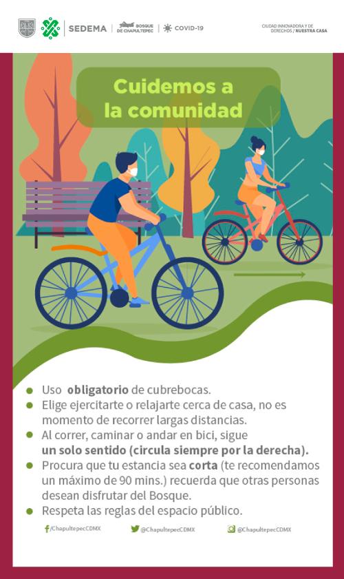 Si acudirás al Bosque de Chapultepec, ten en cuenta estas medidas. 👇 Recuerda que seguimos en #SemáforoNaranja 🚦🟠 #ProtégeteYProtegeALosDemás