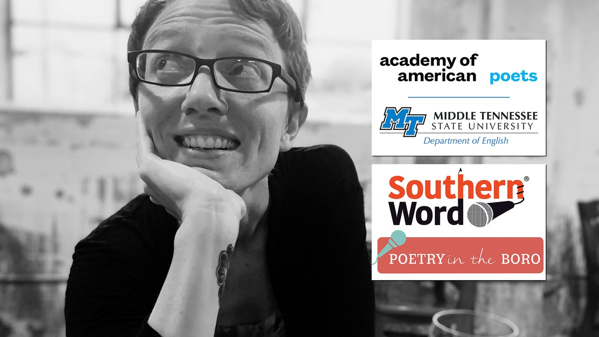 """An @mtsuenglish lecturer who's also @cityofmborotn's #poetlaureate is up to plenty of community #poetry good with help from a @POETSorg national fellowship! Hear more TONIGHT, 7/7, @ 9:30 CDT on #MTSU On the Record"""" on @WMOT_RootsRadio: https://t.co/rwC1NxWF3r https://t.co/Eg5AfLnCtg"""