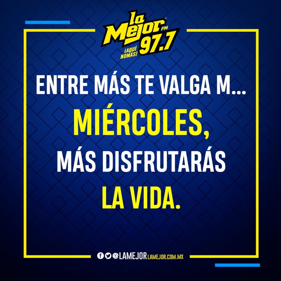 ¡A disfrutar!✨ ¡Buenos Días! ☀️  #AquíNomás La Mejor FM 97.7 📻 https://t.co/cXqYYA5cKA