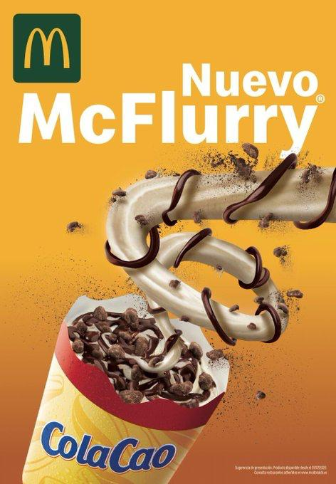 Necesito esta fantasía en mi vida. #Mcflurry #Colacao @McDonalds @colacao