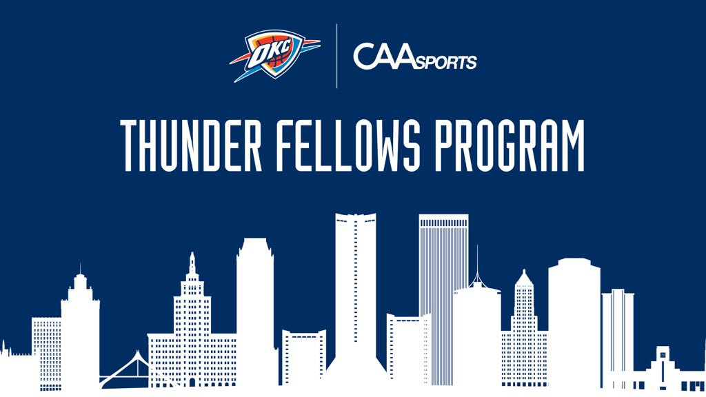 Thunder and @caa_sports announce Thunder Fellows Program, unlocking new career opportunities for Black students in Tulsa. Emphasis is on data analytics and creating pipeline for jobs in sports, entertainment and tech.   News release: https://t.co/IkvbJ19CfV https://t.co/kxfWKCK2FM