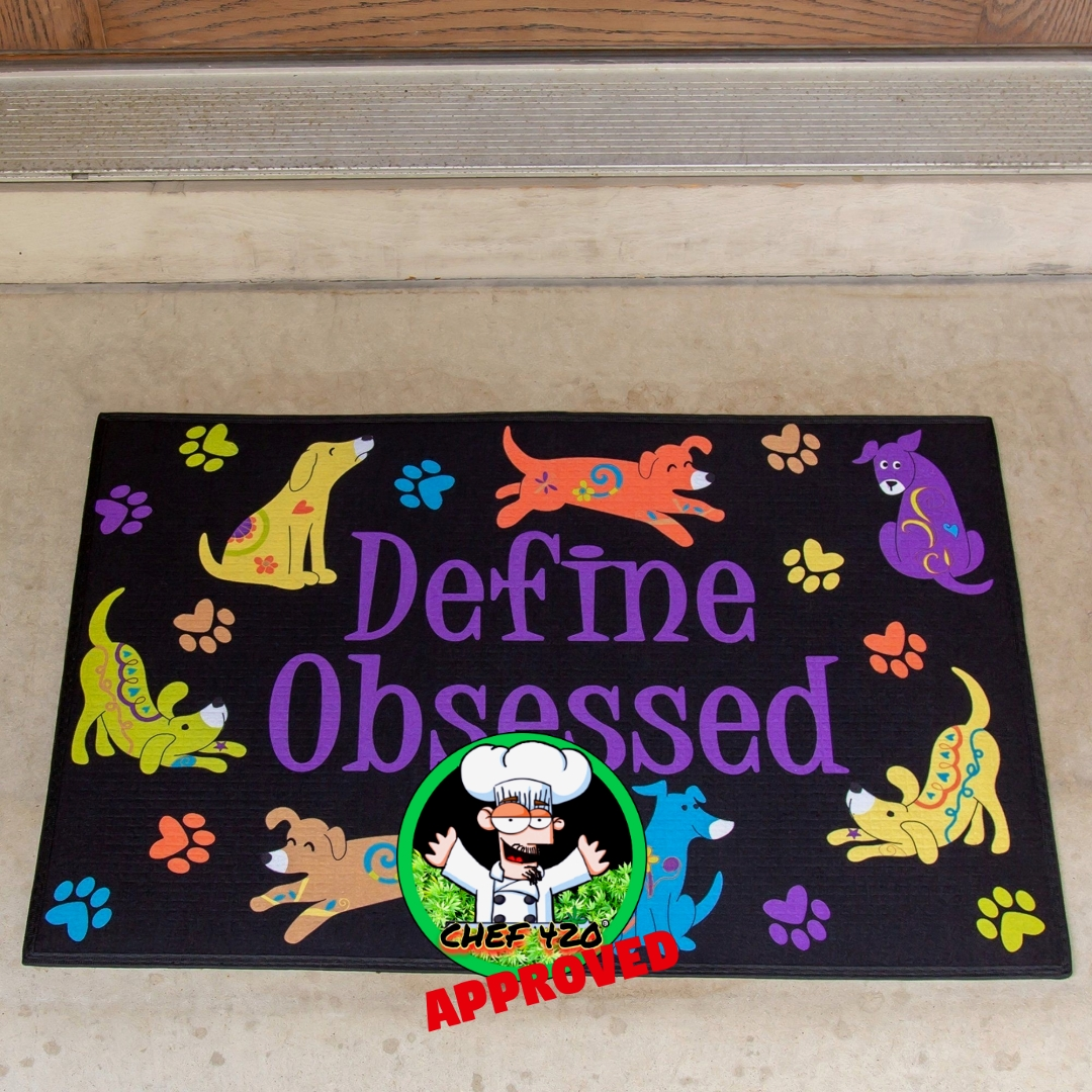 """Define Obsessed Indoor/Outdoor Mat  Feeds 35 Shelter Animals!$16.95 Let visitors know they're in for a pet-filled experience with this dog or cat covered entrance mat printed with  """"Define obsessed.""""  >> https://t.co/AGlNul4GZV  @TheAnimalRescue https://t.co/lxPt65e2ut"""
