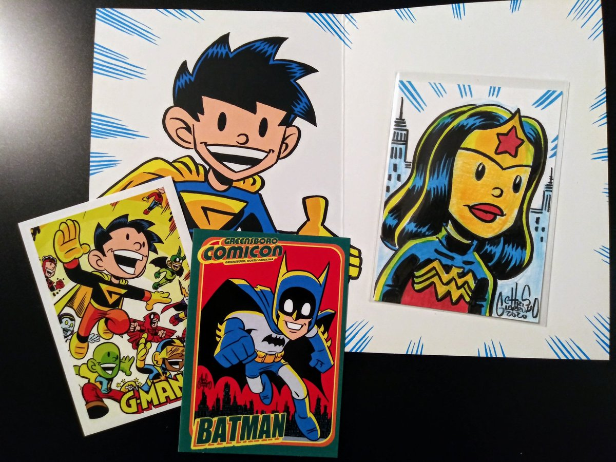Thank you to @Chris_Giarrusso for this great sketch card and extras!