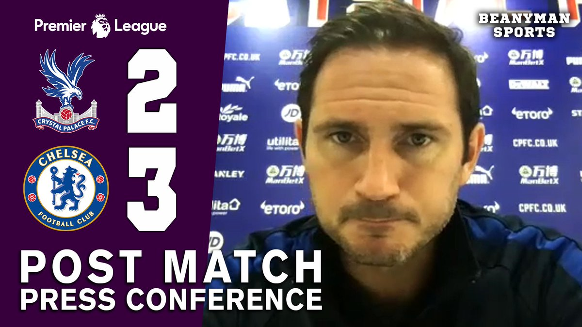 VIDEO - Crystal Palace 2-3 Chelsea - Frank Lampard FULL Post Match Press Conference - Premier League https://t.co/g1cut4ZQw6 PLEASE SHARE! https://t.co/ERvYIxrqlh