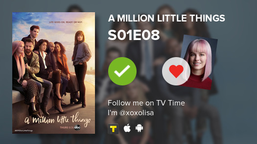 i just watched A Million Little... #amillionlittlethings S01E08  #tvtime https://t.co/gvr9QuMnsP https://t.co/GVf8yU3Dou
