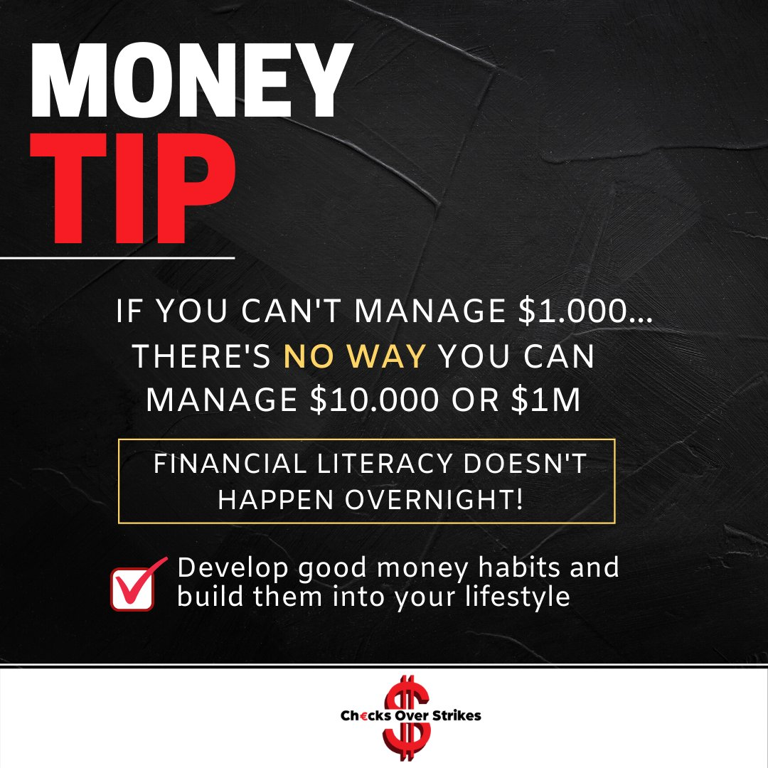 Financial literacy is a process that you learn from! The first step is to develop good money habits.   #financialplanning #financialeducation #financialliteracy #financialindependence #financialgoalspic.twitter.com/hJ5VkLCpju