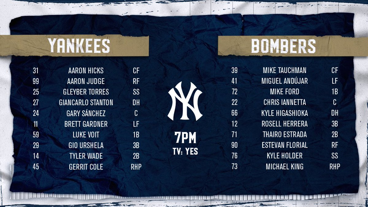 Another night under the lights in the Bronx. Catch us on @YESNetwork: https://t.co/mZ8aEktIXS