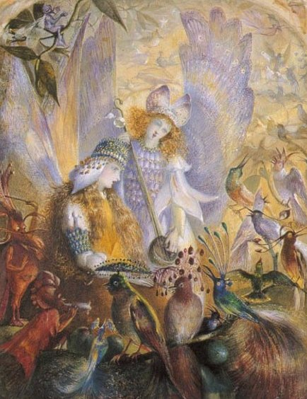 Birds and Fairies for #FairyTaleTuesday  The Concert ~ John Anster Fitzgerald pic.twitter.com/ySkVsEhB6i