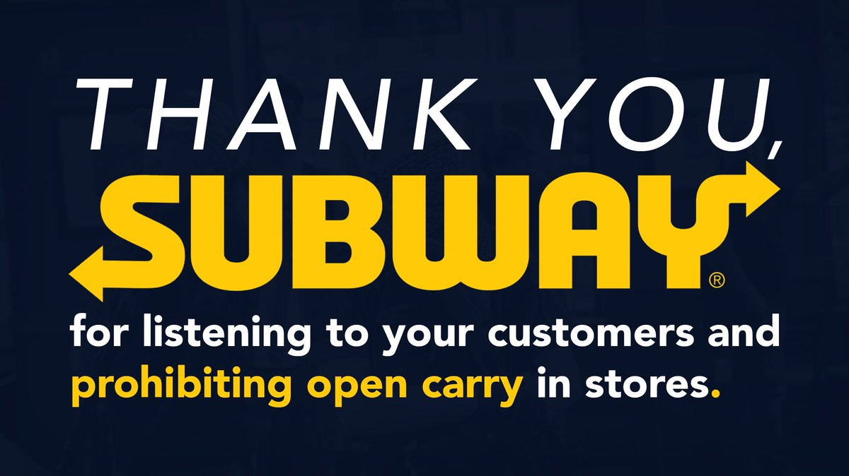 We join @GunsDownAmerica @MomsRising @Alyssa_Milano @NoRA4USA @fred_guttenberg @4GunSafety @NCGV & RaleighApexNAACP to thank @Subway for banning open carry in its restaurants. https://t.co/OFRaVnX3sm #EndGunViolence https://t.co/IhSI83g6c2
