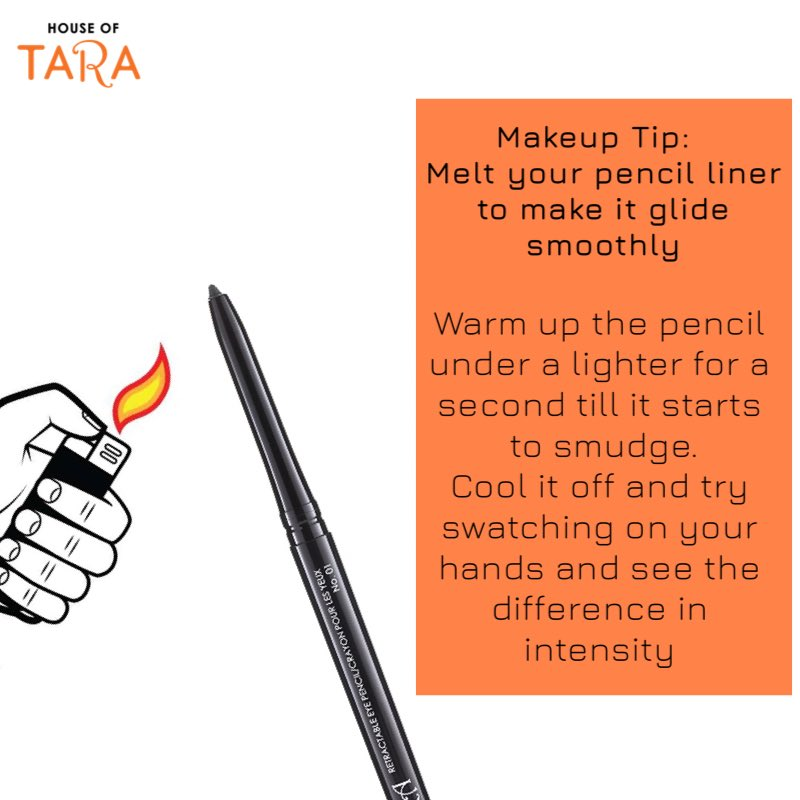 Sometimes having a liner pencil that skips or takes multiple coats before getting a decent application can be soo frustrating. Here's one hack that can help Fix that. . . Let us know in the comment section if you would try it . Rate this tip from 1 - 10 https://t.co/i1nkMcPB5O