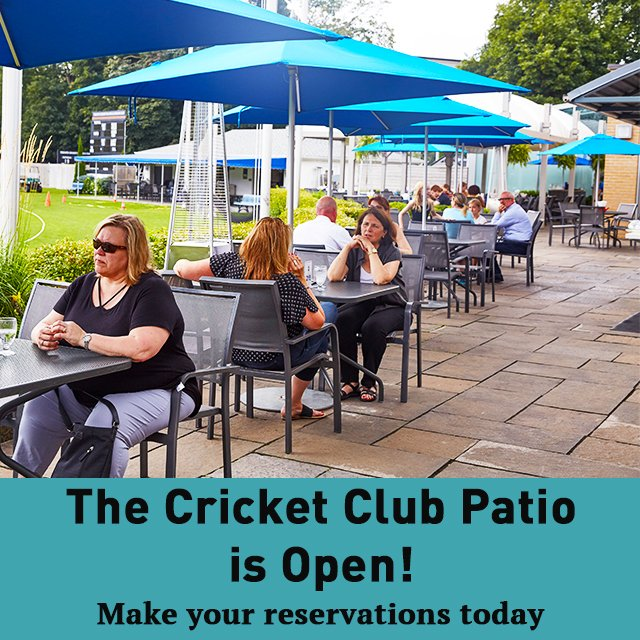 Members, don't forget to call our reservation line to book a table on the Cricket Club Patio! Enjoy patio season at the Cricket Club. Learn more at https://t.co/ZfjAuUfuGH #TCSCC #PatioSeason https://t.co/stbZ1a69bo