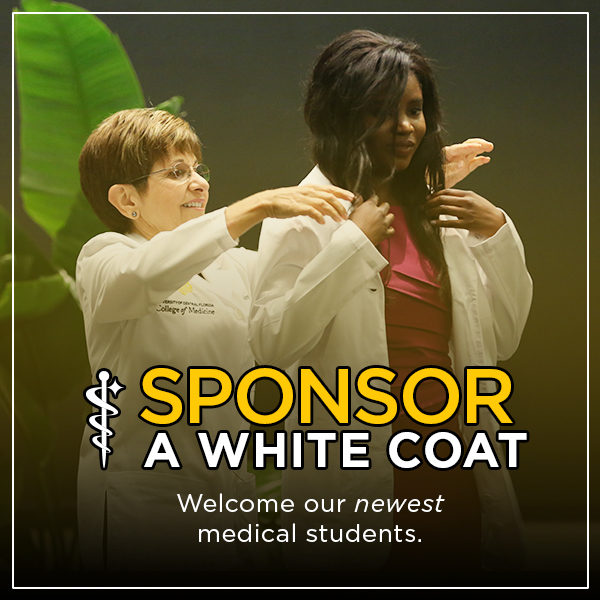 Welcome the UCF College of Medicine Class of 2024 as they begin their journey to becoming physicians by sponsoring a white coat. 📎:https://t.co/wtJIxwcZhG https://t.co/XFQDDD7rqe