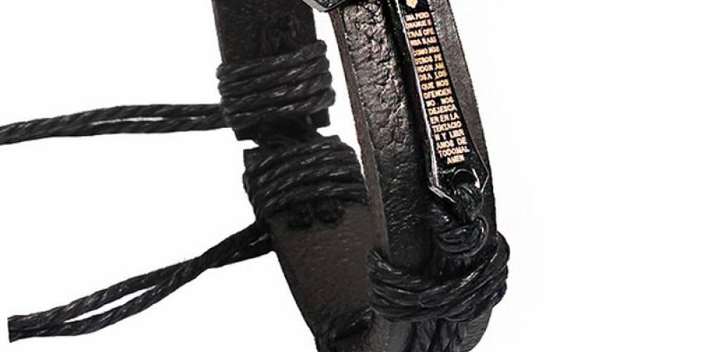 Adjustable Cross Design Men's Leather Bracelet #jewelryporn #jewelrystore #jewelrymaker #jewelryshop #jewelryph #jewelrylove #jewelrysale #charms