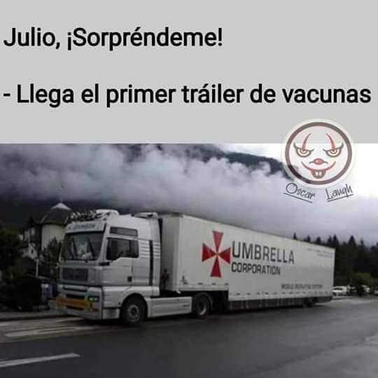 Vienen llegando las vacunas!!! Gracias #UmbrellaCorporation! pic.twitter.com/TzlvAO0vUF