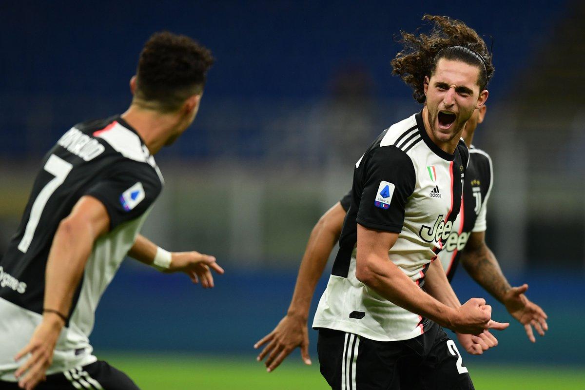 Quand tu marques ton premier but pour la Juve ⚪️⚫️ #Rabiot #MilanJuve