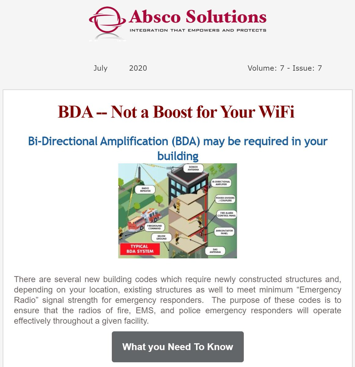Check out our July Newsletter BDA -- Not a Boost for Your WiFi - https://mailchi.mp/212555d94b43/bda-not-a-boost-for-your-wifi … #BDA #Honeywell #TechnologyTrends #Avigilonpic.twitter.com/2J3nBevoeQ