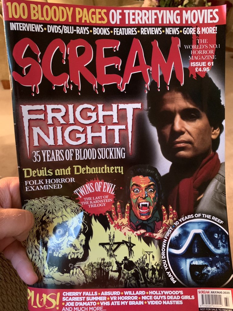 Having a @ScreamHorrorMag  afternoon. https://t.co/uAr4ur6BUx