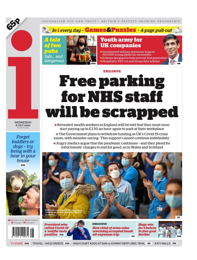 The gratitude from the Government didn't last long. Free parking for NHS staff will end on 31st July. Please RT if you agree this is a kick in the teeth as Covid-19 continues to take lives.