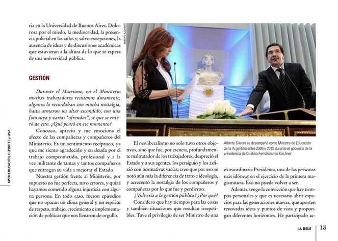 """#Entrevista @AlbertoSileoni Sobre el Gobierno: """"Este es mi gobierno, me representa el presidente que junto con Cristina son mi conducción, y seguiré trabajando desde otro lugar para que no volvamos a retroceder de la mano de las políticas regresivas de la derecha"""" . https://t.co/i0m33PWPhy"""