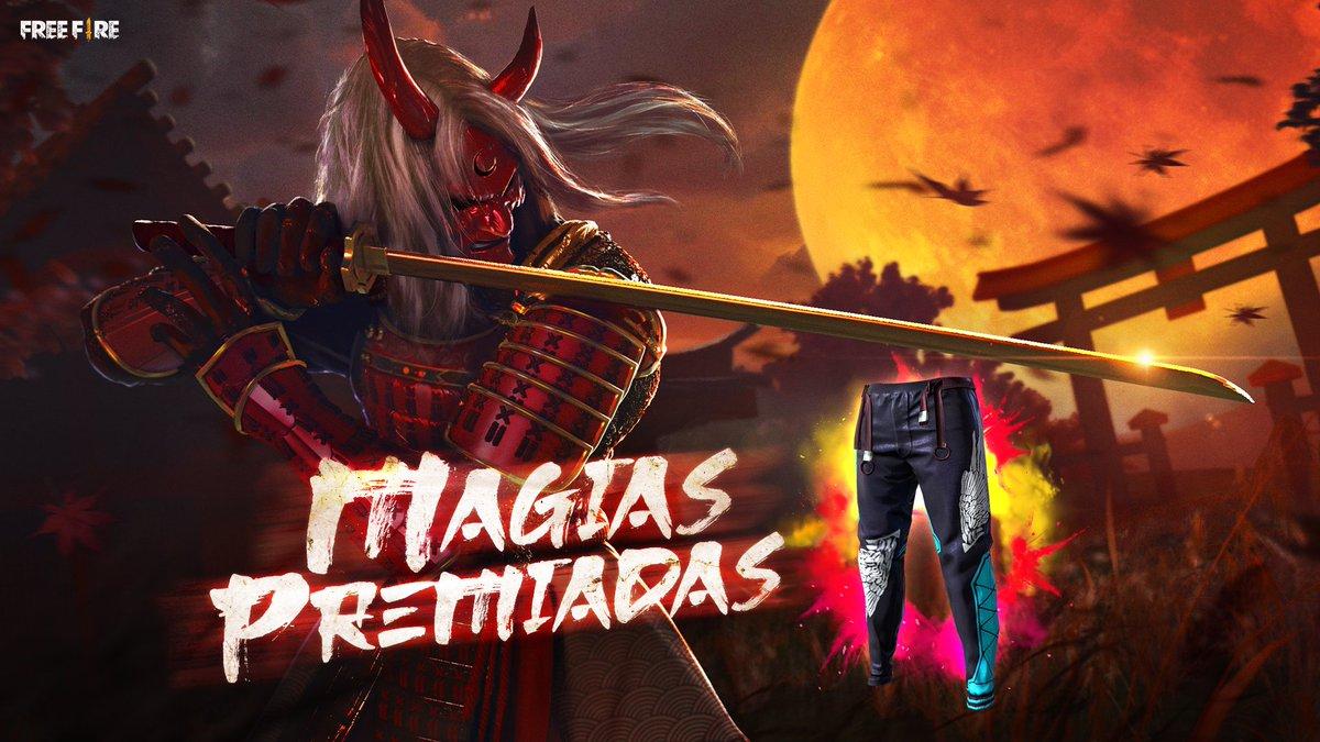 """Free Fire] - Brasil on Twitter: """"Magias Premiadas está de volta com um item  exclusivo: Calça Angelical! É a sua chance de garantir a sua!… """""""