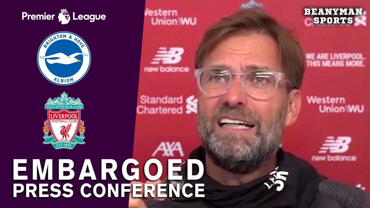 VIDEO - Jurgen Klopp EMBARGOED Pre-Match Press Conference - Brighton v Liverpool - Premier League https://t.co/mwMEk1DjHc PLEASE SHARE! https://t.co/rW9rrE8iYU