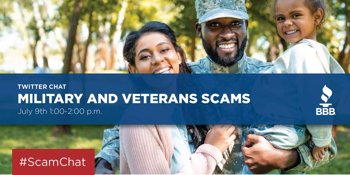 We'll be participating in another great #ScamChat this Thursday! Celebrate Military Consumer Month by joining us for this important conversation. #MilConsumer2020 #Scams