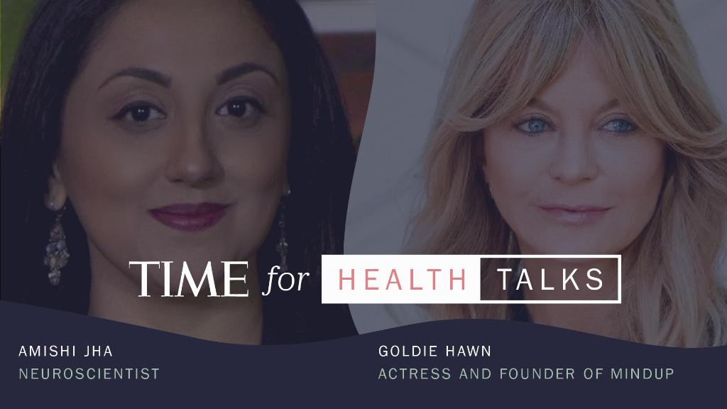 Tune in for a live #TIMEforHealth Talks featuring actress @goldiehawn and neuroscientist @amishijha and learn how mindfulness can provide calm in difficult moments. Register now and tune in tomorrow at 1PM ET: https://t.co/xEmdOjQqR1 https://t.co/ENKlCziDb2