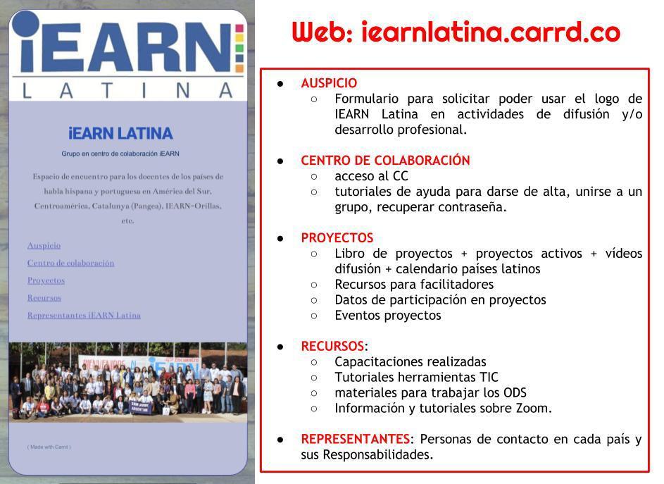 Sumate a los proyectos  colaborativos  internacionales  de iEARN  Latina #ODS #INTERCAMBIO #proyecto #educacion https://t.co/5hqsMiWJHu https://t.co/TVVmW6EeVv