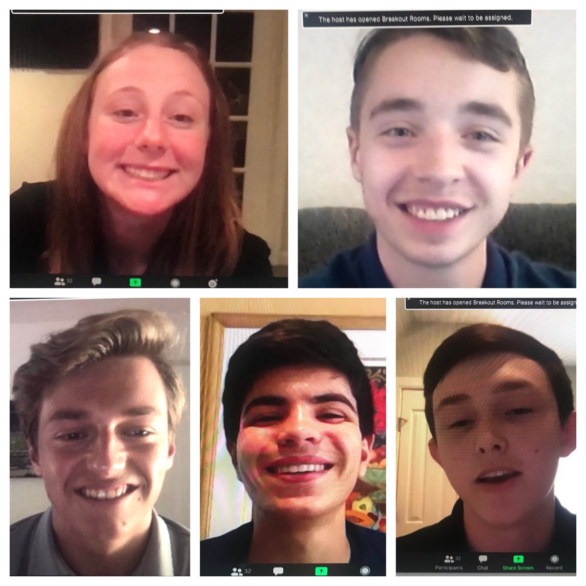 Faces of our Veteran Camp! Zoom is far from perfect but it's working well! And you can see these kids are building incredible portfolios and having a blast! @zoealter1 @EddieKalegi @CameronManna @aiden_blanc10 Michael Micceri #Veterans https://t.co/YtXx0aA9g6