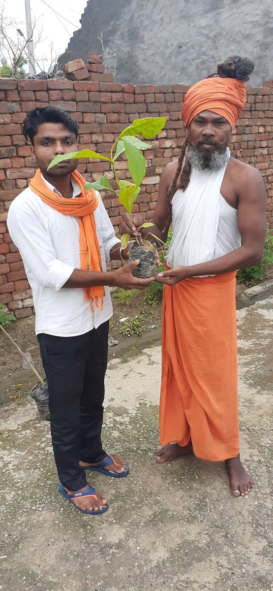#अखिल भारतीय विधार्थी परिषद के स्थापना दिवस के उपलक्ष्य में आज 08/07/20 रविदास आश्रम, भलवा में  वृक्षारोपण किया। #पेड़ लगाओ, जीवन बचाओ#पंकज दास                                          #नगर सहसंयोजक (SFS) pic.twitter.com/GLkntVnVXg
