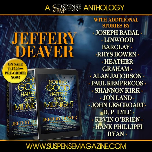 """We are very excited to share with you """"Nothing Good Happens After Midnight."""" An anthology with @JefferyDeaver @Rhysbowen @JonDLand @ShannonCKirk @linwood_barclay @HankPRyan and many more, check it out: https://t.co/oD2Nd9ZX0m https://t.co/0kpzZF7Z4Y"""