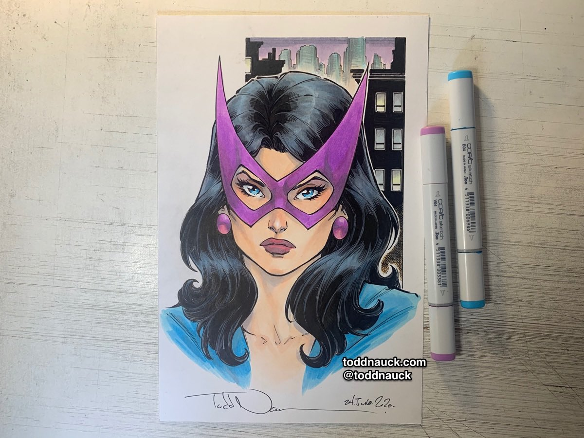 Huntress. A recent commission. #huntress #birdsofprey #dccomics