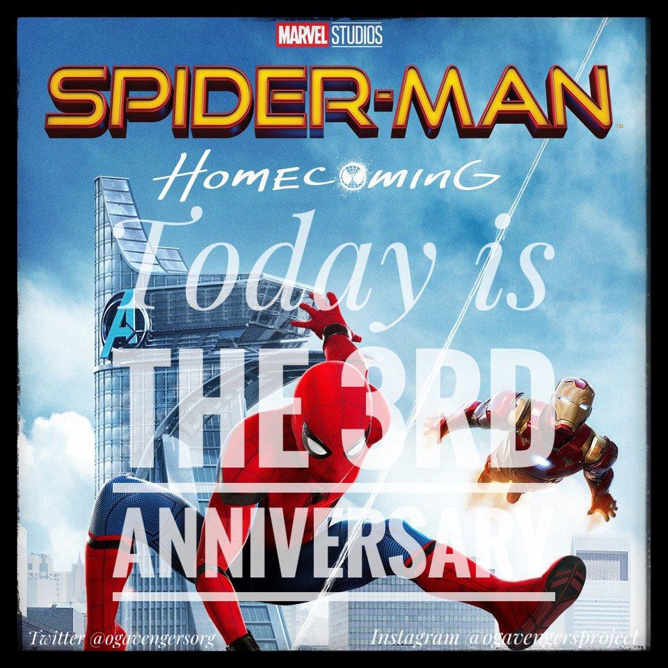 Happy 3rd Anniversary Spider-Man: Homecoming! #ogavengersproject #ogavengersorg #avengers #marvel #mcu #marvelcinematicuniverse #charitywebsite #spiderman #peterparker #tomholland #spidermanhomecomingpic.twitter.com/rJiRwXrcnv