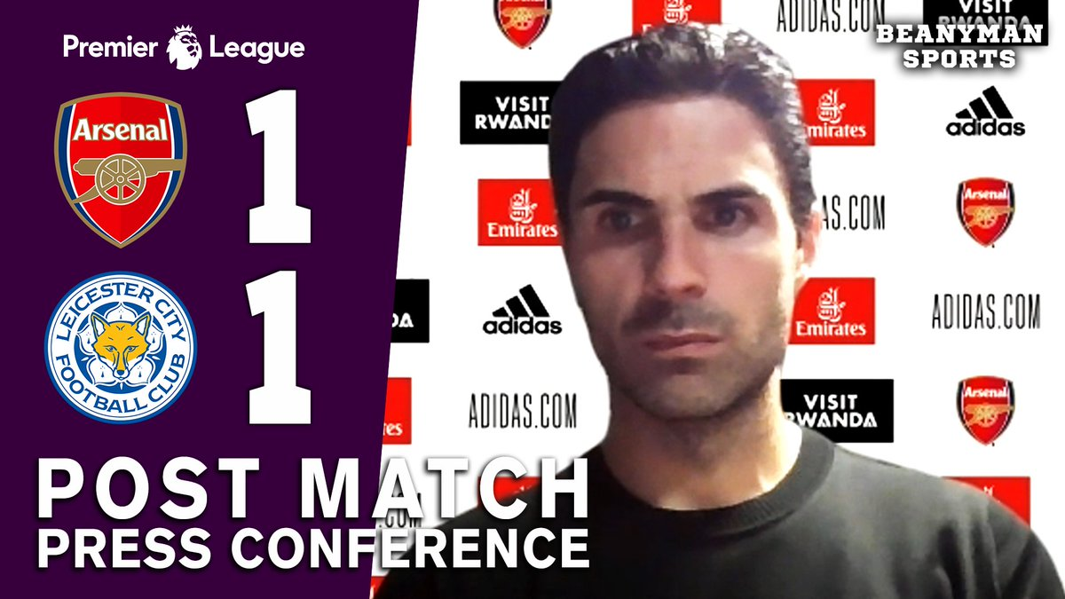 VIDEO - Arsenal 1-1 Leicester - Mikel Arteta FULL Post Match Press Conference - Premier League https://t.co/rYigDpbHpi PLEASE SHARE! https://t.co/gVZao3TyJd