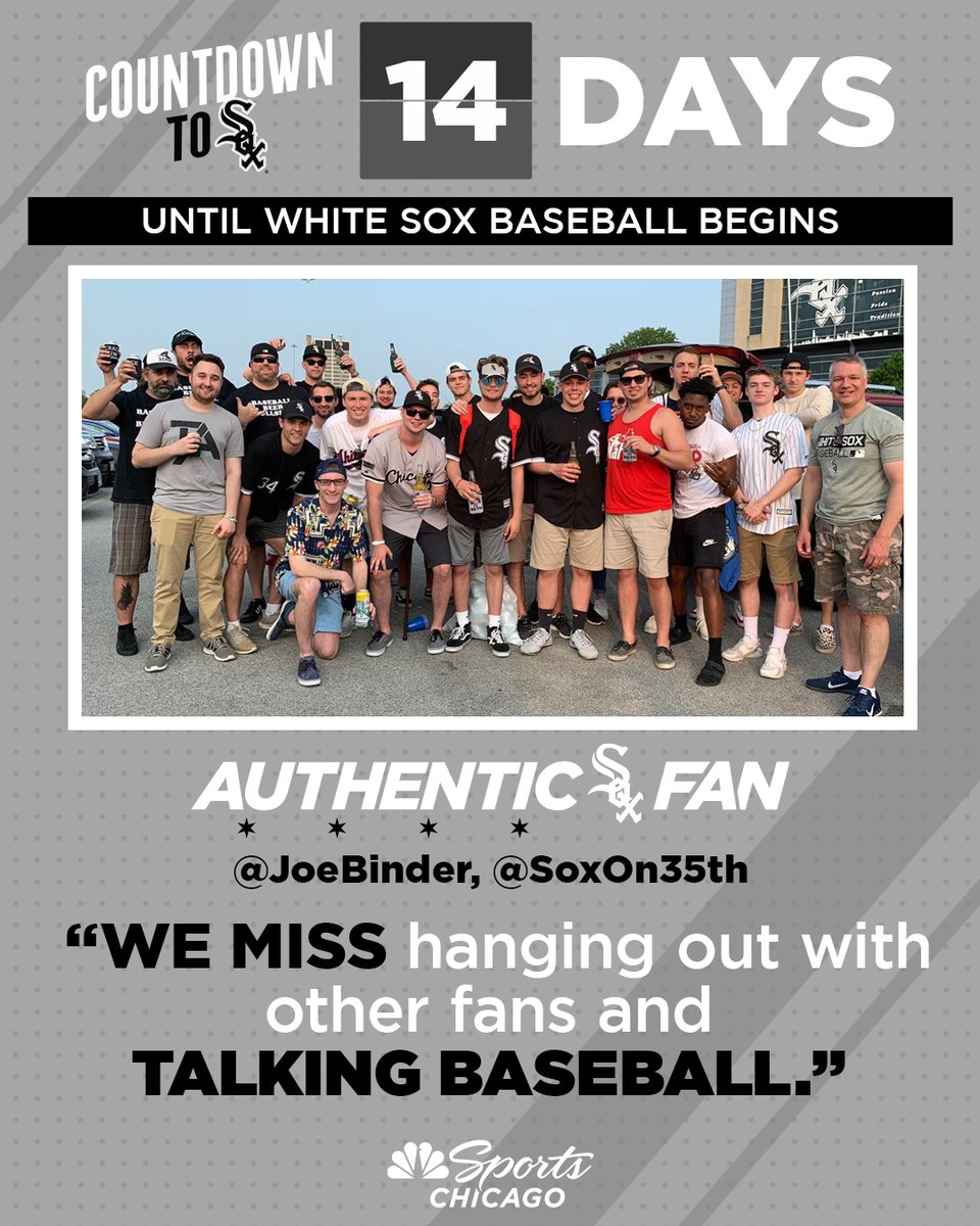 Some of the best people to talk baseball with. Shouts to @SoxOn35th, @JoeBinder.   14 days. #AuthenticFan 🖤 https://t.co/w5cSjH0OK5