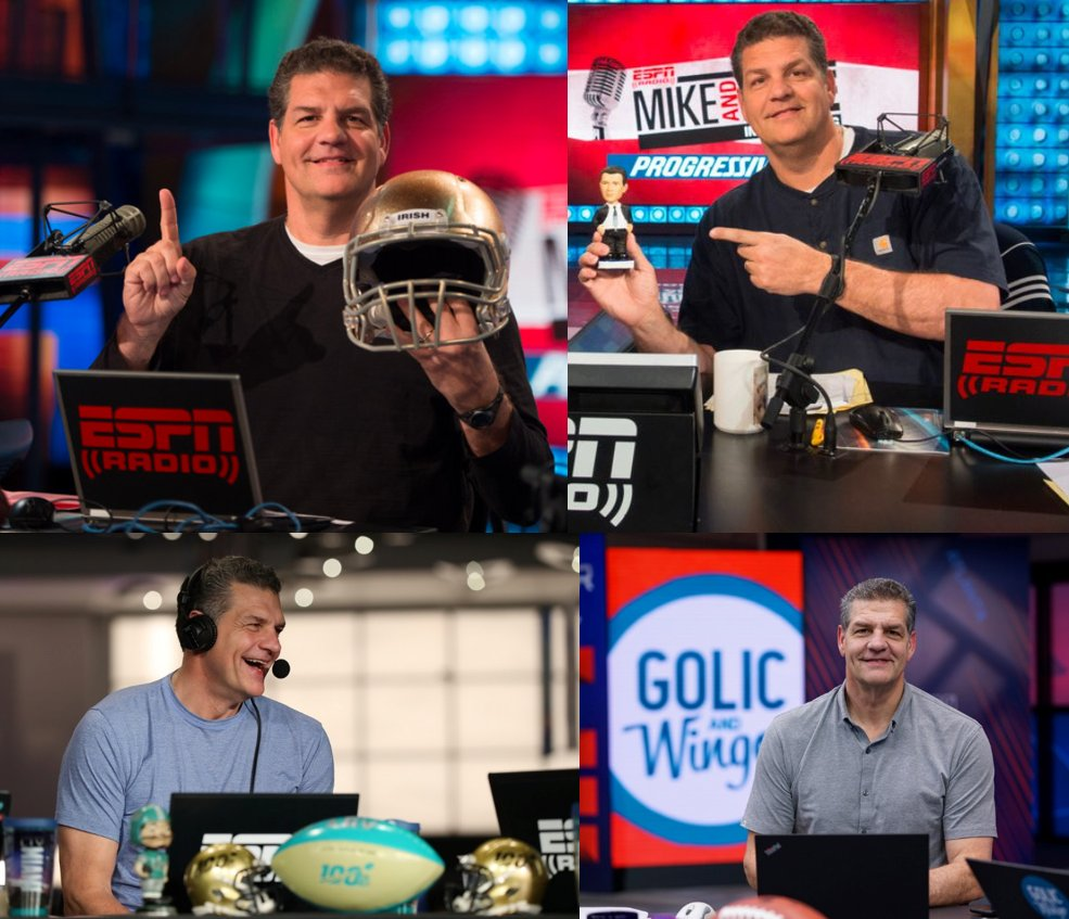 Lots of changes announced today, but ESPN Radio won't be the same without @espngolic, who started w/ the network in October 1998. That's thousands of mornings, interviews, stories, road shows, friendly wagers - and, yes, donuts. There's a reason Mike is a Hall of Famer. https://t.co/j2nPCEAlVF