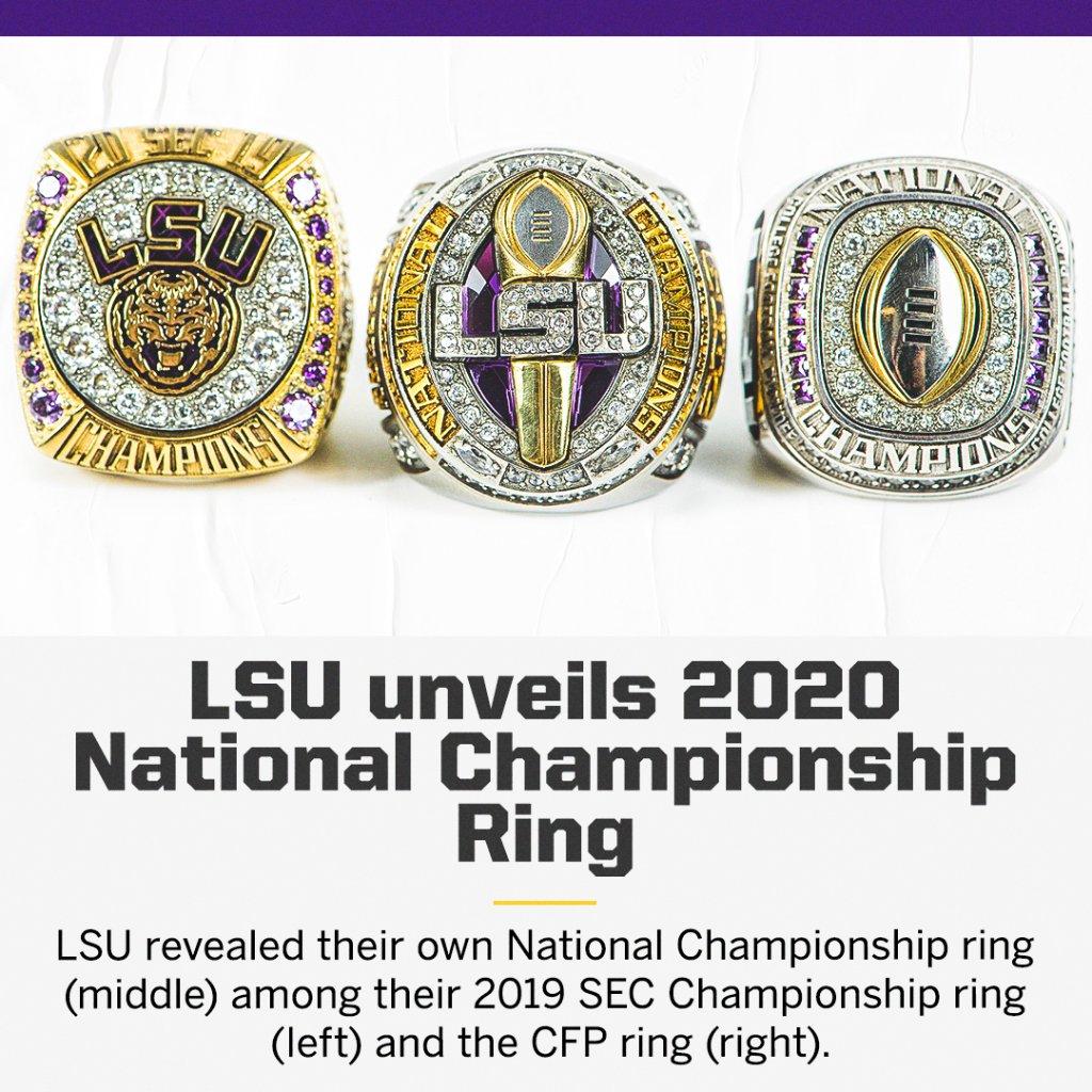 LSU's championship rings have arrived 🤩💍   (via @LSUFootball) https://t.co/j89HpSVRWk