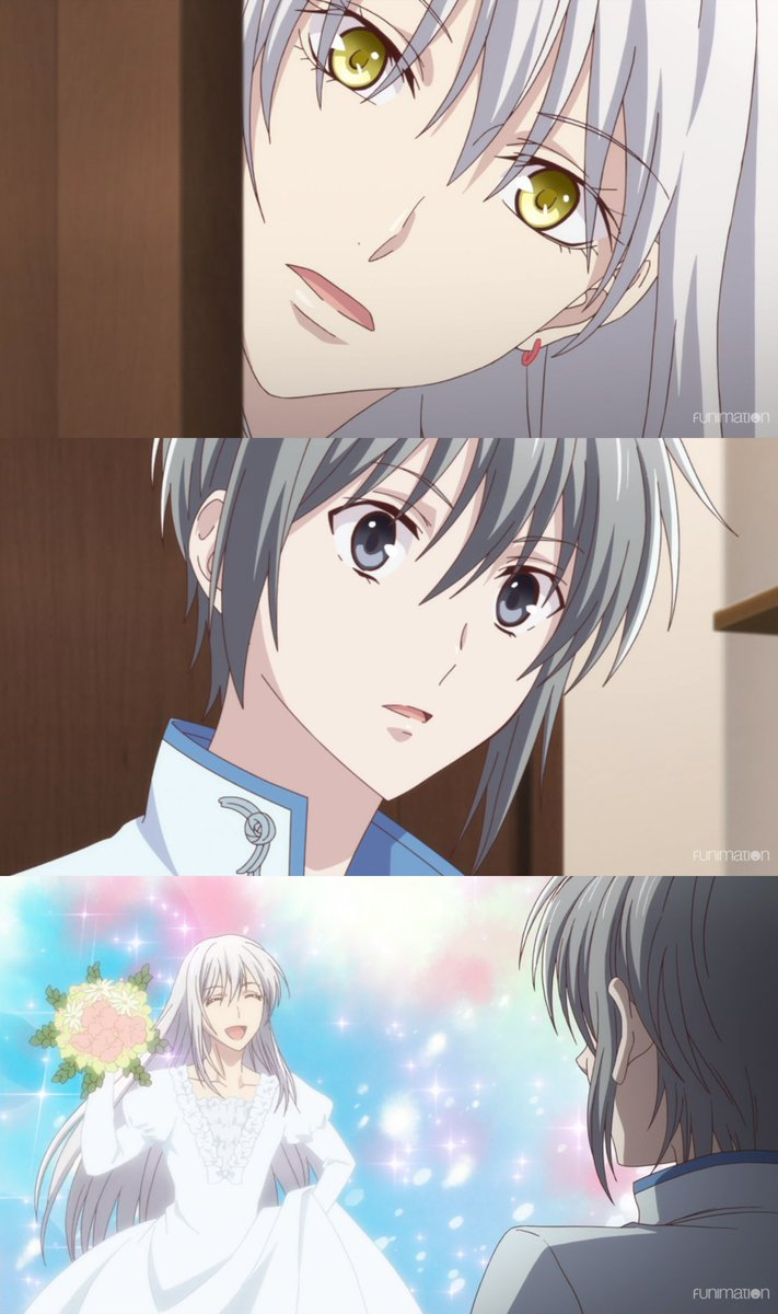 Yuki visited his brother's shop for the first time. 😳 [via Fruits Basket]