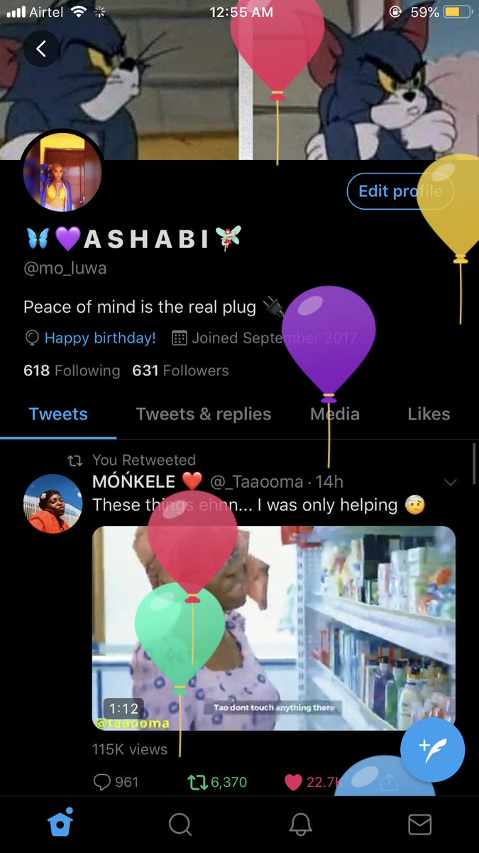 Ballon day ❤️. Happy birthday Ashabi 🦋