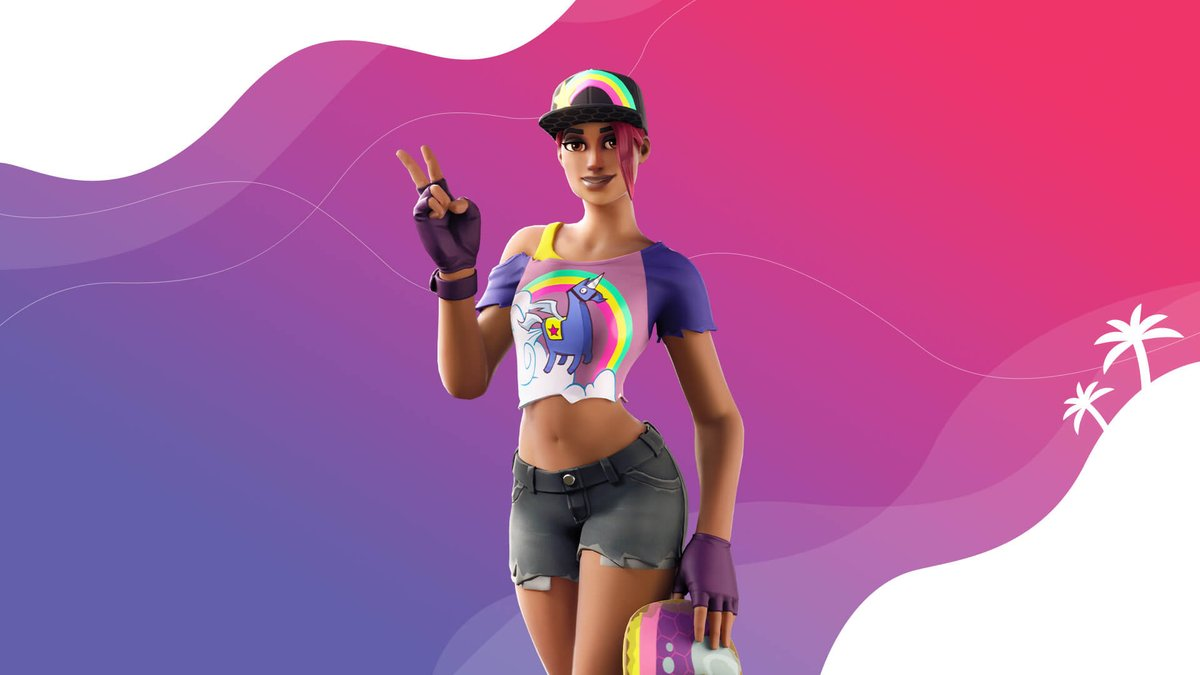 """#Fortnite News Update: Beach Bomber """"The queen of sunshine is ready to take on the summer by storm!"""" pic.twitter.com/dgAxTyQLtF  Use Creator Code: TWITCH-SREYS if you'd like to support us  #FortniteBR #SupportACreator #SAC #EpicGames"""