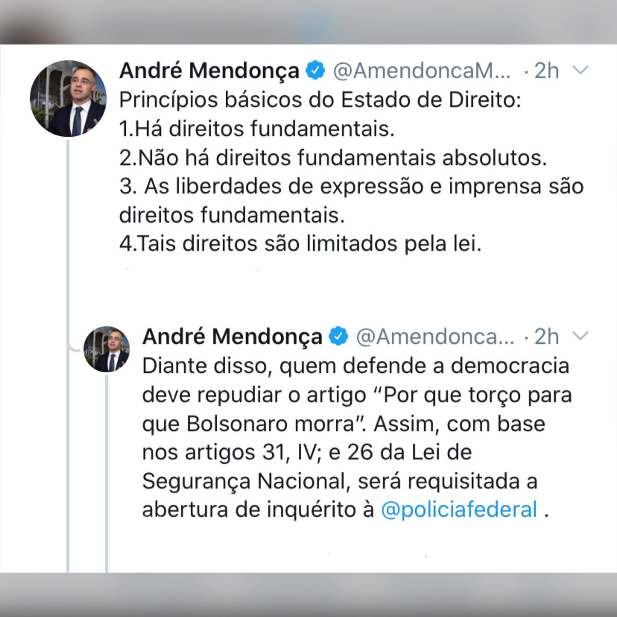 RT @jairbolsonaro: - @AmendoncaMJSP @AmendoncaMJSP https://t.co/IplARQ6k4J