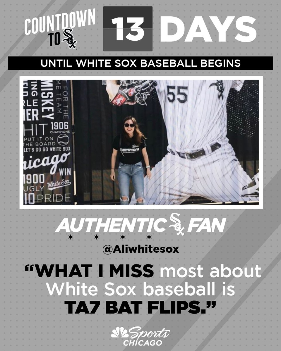 Think @aliwhitesox speaks for all of us. Can't wait, @TimAnderson7.  13 days. #AuthenticFan 🖤 https://t.co/yKEWu2C8Sg