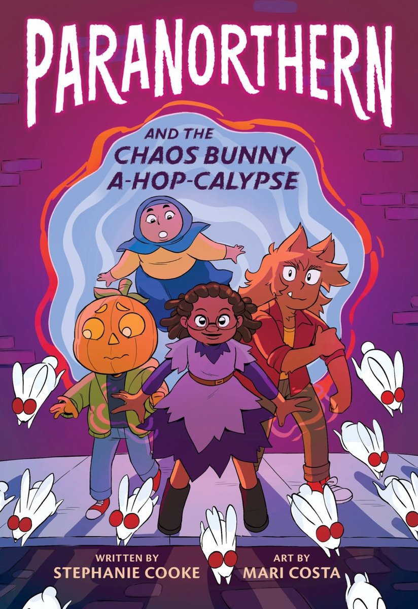 PARANORTHERN by @hellocookie (art by Mari Costa) a graphic novel about a witch named Abby & her three friends who band together to try & save their supernatural town from an invasion of rabid (but adorable) chaos bunnies.   Goodreads: https://t.co/OxsM8PN1cT  #WaitingOnWednesday https://t.co/pc9ngoS8RG